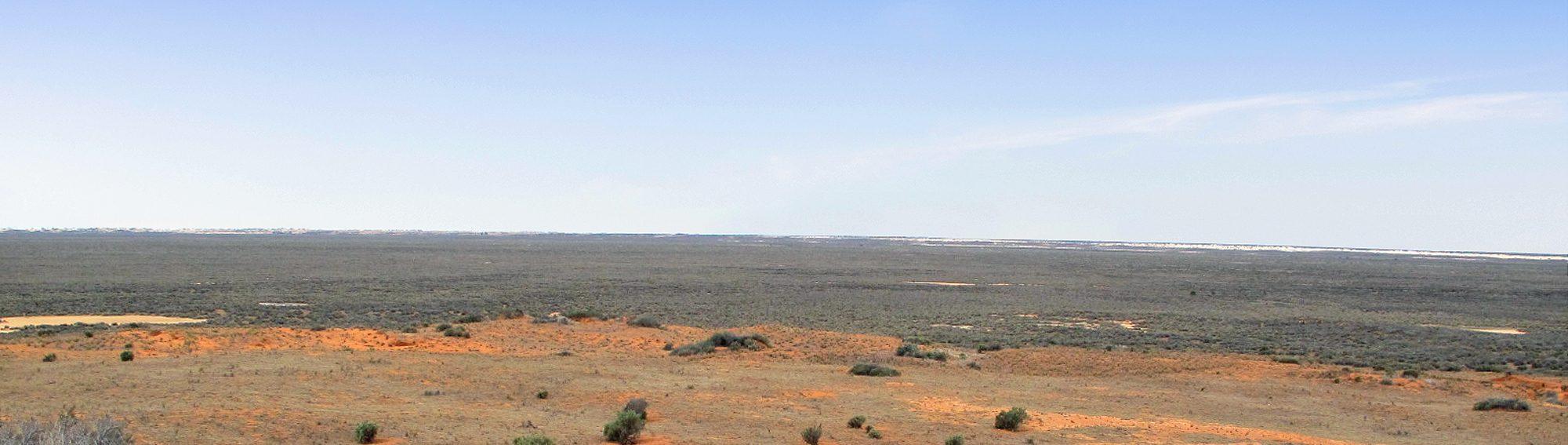 Lake Mungo panorama World Heritage Area